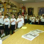 Vocal group practicing, May 2013