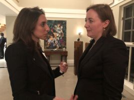 Reception for Chargée d'affaires of Canada to Armenia, Ms. Annik Goulet.
