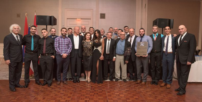 Current & Past Senior Men's Team with Alajajian Family