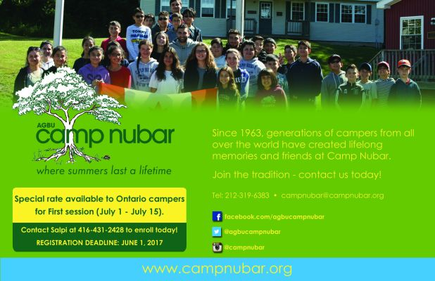 Camp Nubar Ad - Half Page