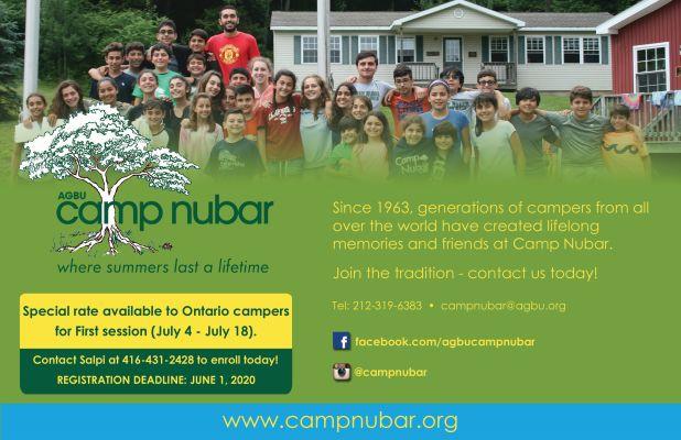 Camp Nubar Ad - Half Page - Toronto